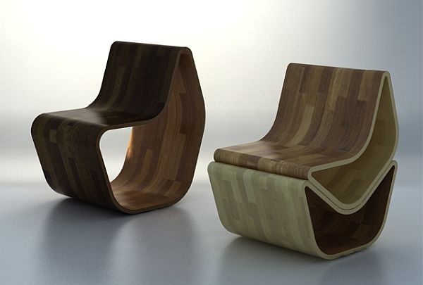 GVAL Chair multifunctional plywood chair