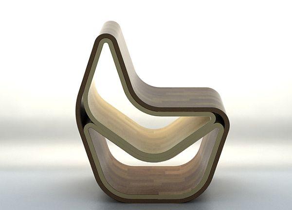 GVAL Chair multifunctional plywood stool
