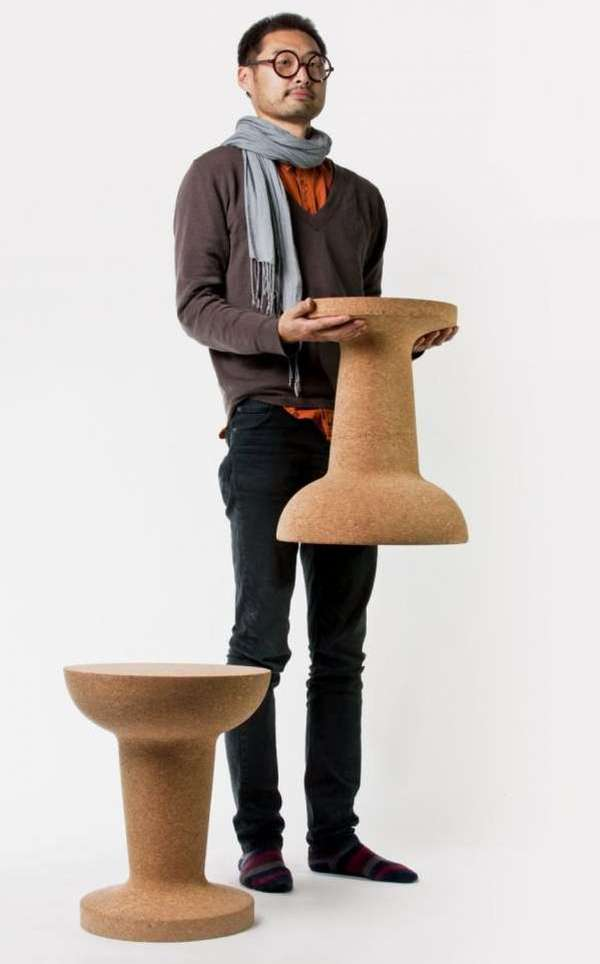 Pushpin Cork Stool by Kenyon Yeh 2