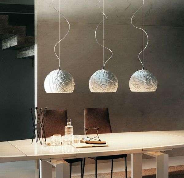 White pendant lights Artic Cattelan Italia 3