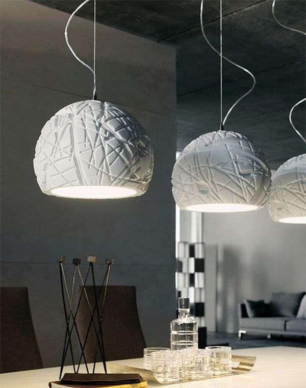 White pendant lights Artic Cattelan Italia