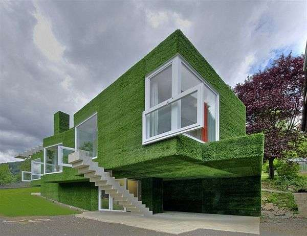 Unique Green Home In Austria Sports Some Cool Spatial