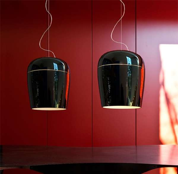 Blown glass pendant lamps Prandina