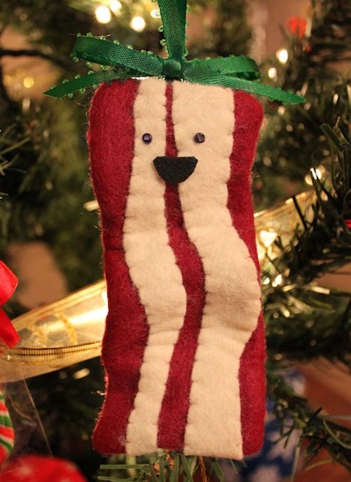 DIY Christmas Ornaments Bacon