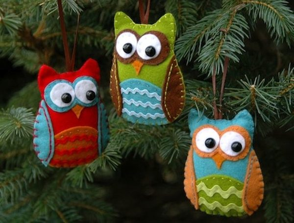 DIY Christmas Ornaments Felt Owl