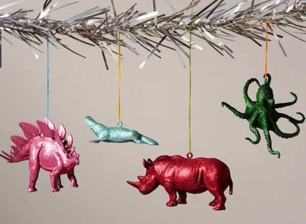 DIY Christmas Ornaments Glitter Animals