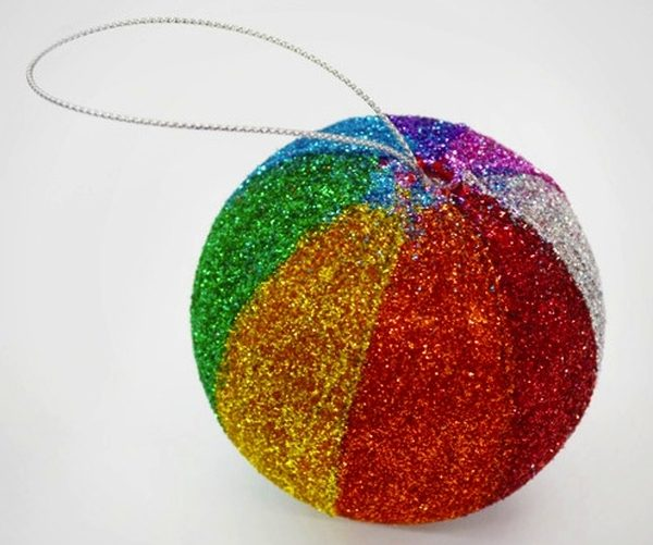 DIY Christmas Ornaments Glitter Ball