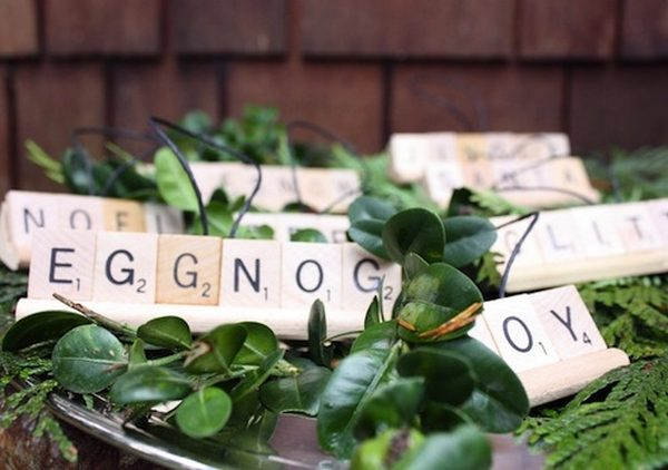 DIY Christmas Ornaments Scrabble