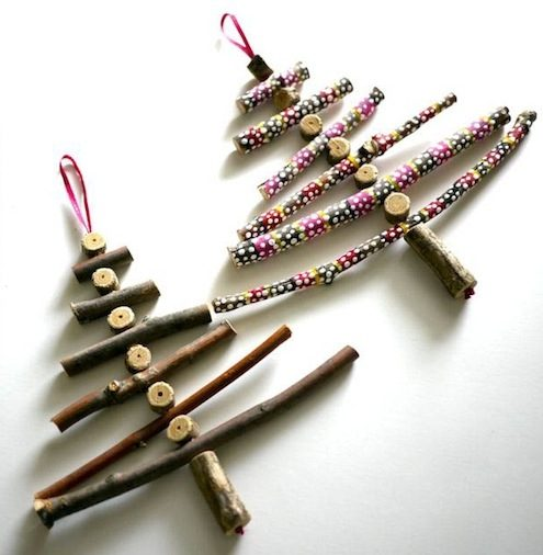 DIY Christmas Ornaments Twig